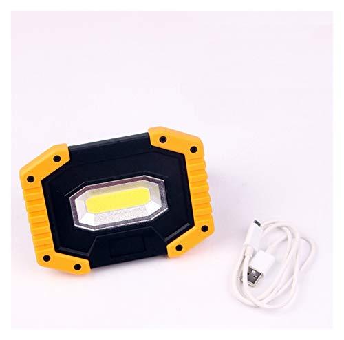 100W 70000LM LED Portátil Portátil COB Super Bright LED LIGHT LIGHT LIGHT LIGHT LIGES DE INUNDABILIDAD recargable para la emergencia al aire libre Lamme 18650 (Body Color : With 2 Batteries)