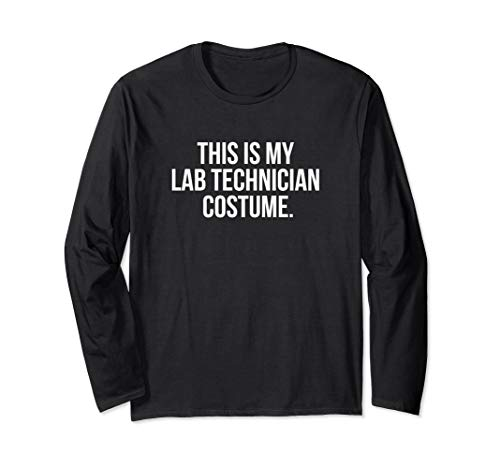 This Is My Lab Technician Costume Funny Halloween Langarmshirt