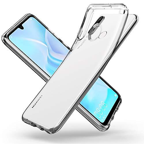 Spigen L39CS25740 Liquid Crystal Kompatibel mit Huawei P30 Lite Hülle Transparent TPU Silikon Handyhülle Durchsichtige Schutzhülle Case - Crystal Clear - 6