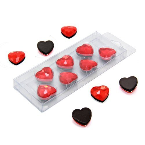 First4magnets F4MHEART-1 Red Heart Shaped Magnet (20mm Durchmesser x 8mm hoch) (1 Packung mit 7), silver, 25 x 10 x 3 cm, 7 Stück