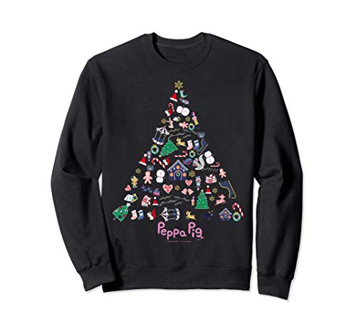 Peppa Pig Christmas Tree Collage Sweatshirt