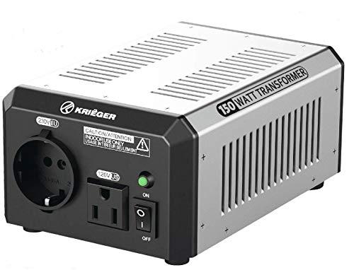 Preisvergleich Produktbild KRIËGER 150 Watt Spannungswandler 110 / 120V - 220 / 230V mit CE / UL / CSA Zulassung