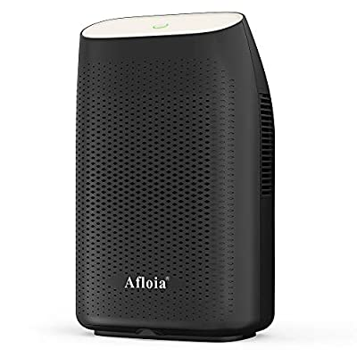 Afloia Electric Dehumidifiers 2000ML(70oz), 28db Quiet and Portable Dehumidifier for Home Bathroom Basement Space Closet RV Office, 2200 Cubic Feet (269 sq.ft), Auto Defrost, Auto Shut Off, Dark by Afloia