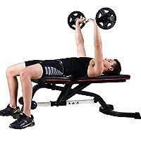 プロのトレーニングスツール屋内ジムチェア業務用ウェイトベンチ多機能フィットネス機器調整可能なウェイトトレーニングスポーツデバイス(色:黒、寸法:141.5x46.6x45 cm)