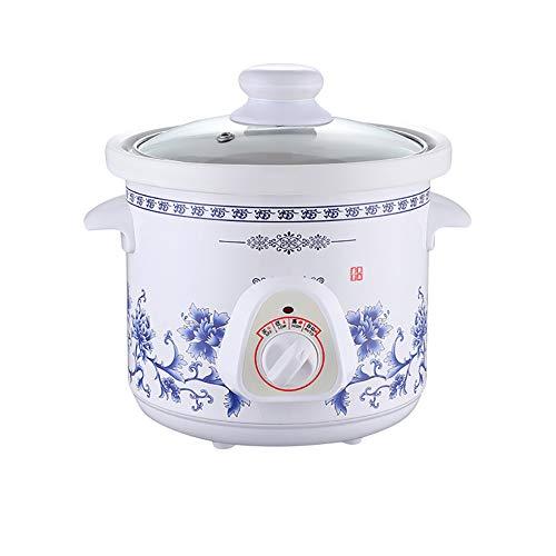 Cocinas premium pequeña olla de cocción lenta/Cerámica Liner Temp ajustable blanca Crockpot/slowcooker...