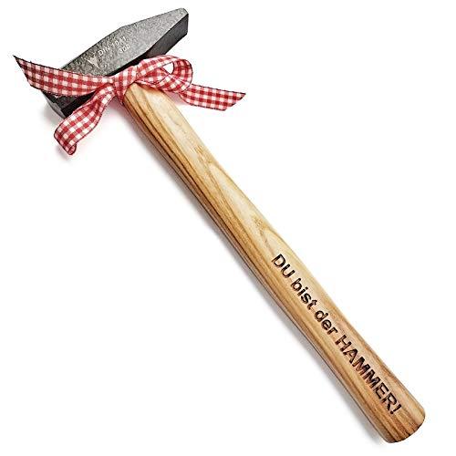 Hammer mit Gravur: DU bist der HAMMER!   deutsches Qualitätswerkzeug in Berlin graviert   humorvolles & praktisches Geschenk für echte Männer & starke Frauen