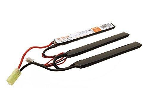 GSG Airsoft LiPo Akku 11,1V 1450mAh -Triple Stick- (je 11,7 x 1,6 x 0,6cm) mit Mini TAM Anschluss