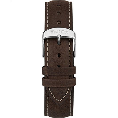 Timex TW7C06300 Two-Piece 20mm Dark Brown Leather Quick-Release Strap