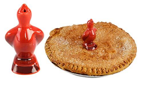 "HOME-X Pie Bird Steam-Releasing Tool For Baking, Pie Bird Funnel (Red) - 3.75"" L"