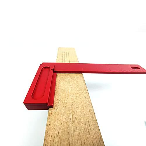 Regalo de Julio Herramienta de medición de carpintería nueva y duradera de aleación de aluminio, medidor de carpintería rojo, dibujo para medir la carpintería