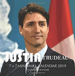 Justin Trudeau 7 x 7 Mini Wall Calendar 2019: 16 Month Calendar