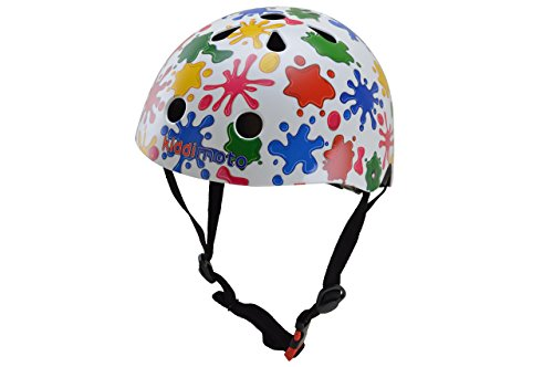 kiddimoto 2kmh046m - Design Sport Helm Splatz, Farbkleckse Gr. M für Kopfumfang 53-58 cm, 5-12+ Jahre