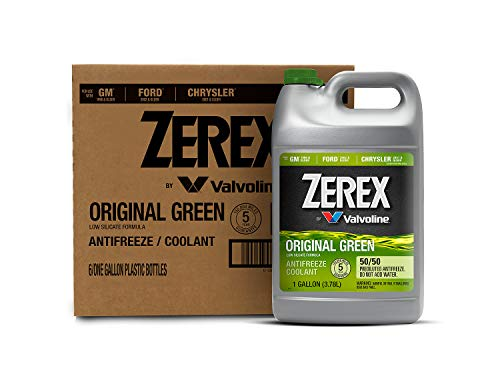 Zerex Original Green Antifreeze/Coolant, Ready to Use - 1gal (Case of 6) (ZXRU1-6PK)