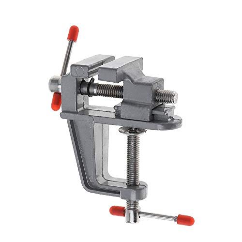 Mini tornillo de banco para mesa, abrazadera de aleación de aluminio, herramienta de reparación de tornillo con mordaza ajustable, abrazadera para taladro de herramienta portátil para banco de trabajo