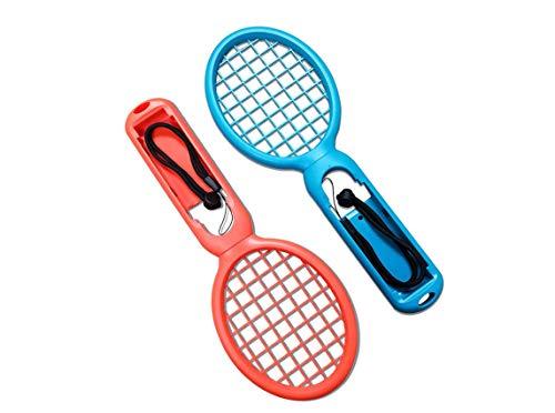 Tennisschläger für Mario Tennis Aces, RLTech Spielzubehör mit Sicherheitsgurten für Nintendo Switch Joy-Con Controller für Switch Game Blau blau/rot