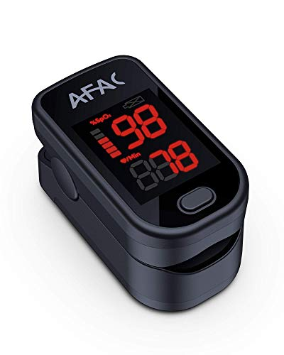 Oximetro, AFAC Pulsioximetro de Dedo Profesional, Oximetro de Pulso, Medicion de Frecuencia Cardiaca la Saturacion de Oxigeno, Para el Cuidado de la Salud Familiar con Pilas y Cordon