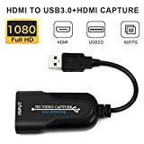Video Capture Card, HDMI to USB 3.0 Video Recording Card, Practical Compact Game Capture Card Grabber