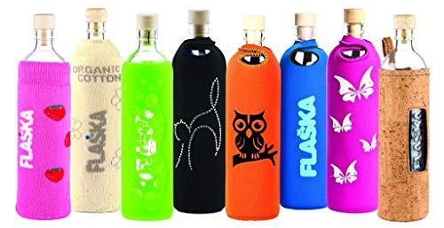 Design Lotus 0,5 Liter - Flaska Trinkflasche Glasflasche