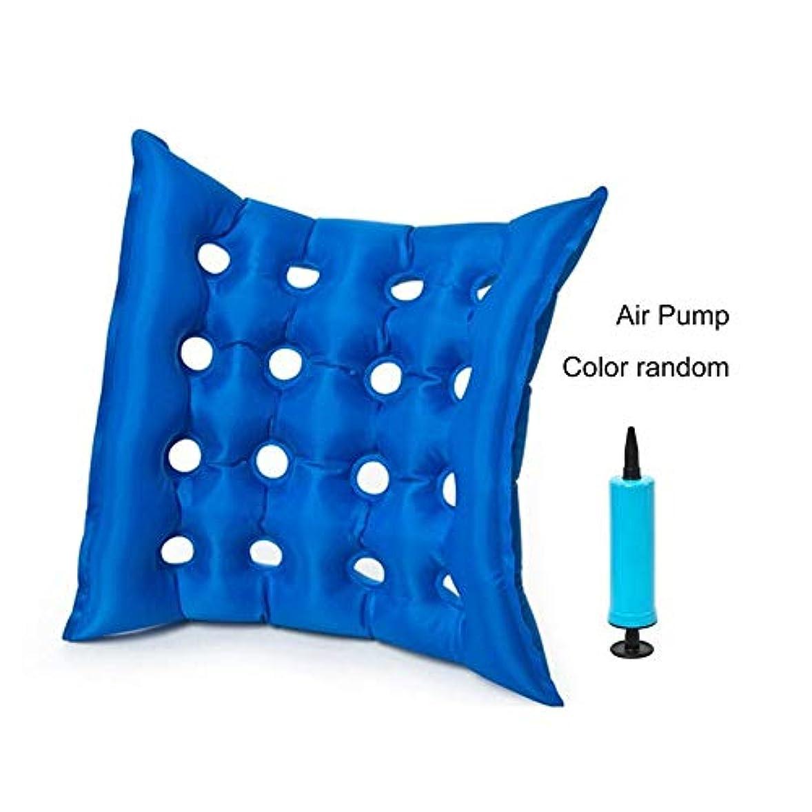 岸オーガニック色合いスクエアpvcホーム空気インフレータブル抗褥瘡褥瘡椅子パッド医療エアクッション車椅子マットヘルスケア(Color:blue)