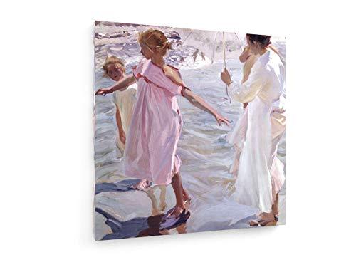 weewado Joaquin Sorolla - La Hora del bano 80x80 cm Impresion en Lienzo - Muro de Arte - Canvas, Cuadro, Poster - Old Masters/Museum