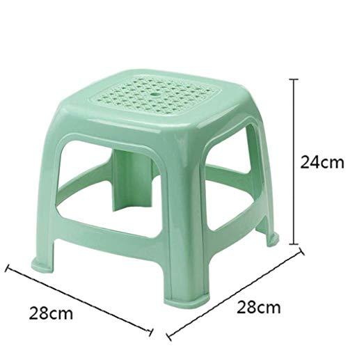 MWPO Reposapiés Reposapiés Sofá Taburete Zapato Cambiador de plástico para niños Taburete Grueso Taburete de baño de plástico Antideslizante (Color: Verde)