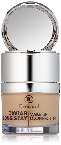 Dermacol Maquillahe de Larga Duración con Extractos de Caviar y Corrector - 30 ml