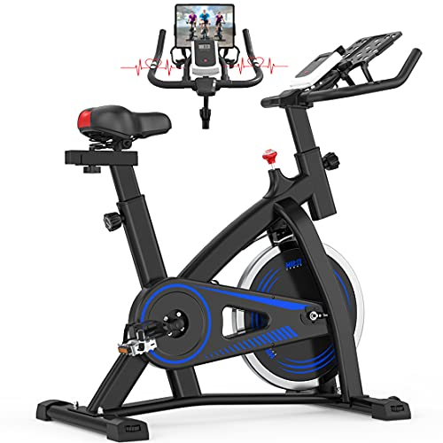 Hitosport Indoor Cycling Bike Stationary, Exercise Bike for Home with LCD Monitor for Home Gym Cardio Workout Bike
