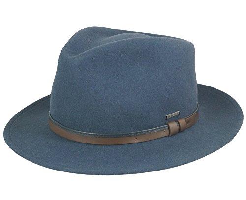 Wegener Chapeau en feutre imperméable Bleu pétrole 58
