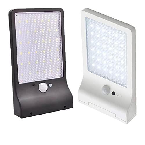 Tuimiyisou Detección De Movimiento Impermeable Luz del Día Pir De La Lámpara De Pared del Sensor De Luz Solar Aire Libre 36led Inicio Calle Patio