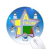 je suis de la zambie bonhomme de neige, tapis de souris série star mat