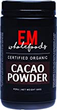 EM Wholefoods Certified Organic Unroasted and Cold Pressed Cacao Powder, 500 g