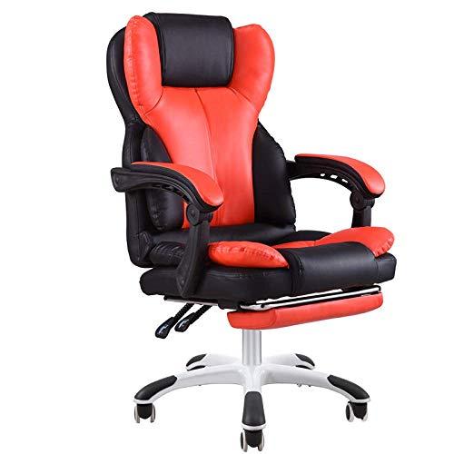 YANGSANJIN Ergonomische Gaming stoel/E-sport stoel/ligstoel/Draaibare fauteuil - High Back Computer Draaibare bureaustoel met voetenbank, ontworpen gamestoel Racing Sport Stijl Draaibare bureaustoel