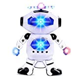 Alagoo Electronic Toy Robot Walking Dancing Singing Robot with Musical and Colorful Flashing