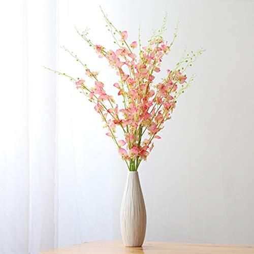 HJCA Decoratieve bloempot van hoogwaardig keramiek, eenvoudige decoratie voor woonkamer, moderne bloemen, woonaccessoires, afmetingen: hoogte 25 cm x diameter 9 cm