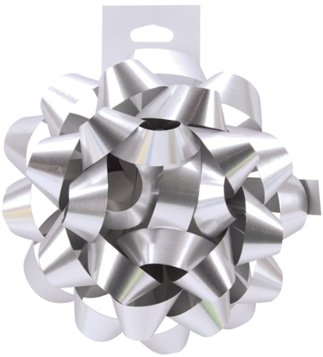 Cindus Carnival Bow, 4.5-Inch, Silver, Pack of 12