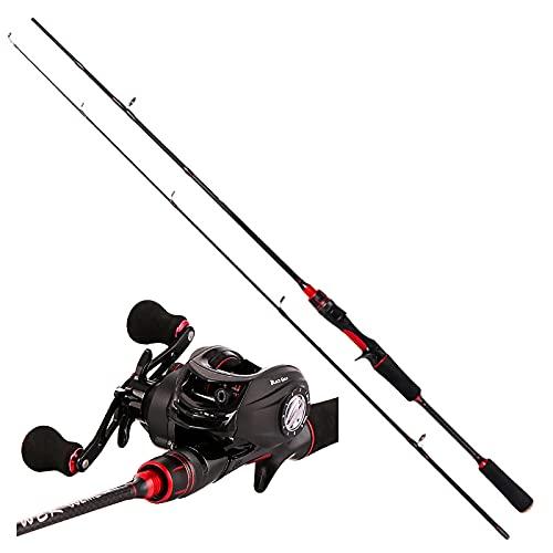 GvvcH Caña de Pescar y Carrete Combo Caña de Pescar Ultraligera Portátil Incluir Carrete Baitcasting/Carrete Spinning,Left Casting,1.8m