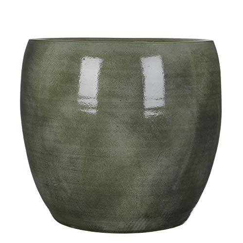 Mica decorations Lester Pot de fleurs en céramique Vert H 35 x Ø 38 cm