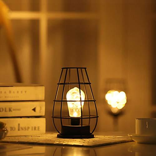 Woonkamerlamp bureaulamp decoratie kinderen nachtlampje voor kinderen eetkamer bar café rode wijnglas flesverlichting geschenk kunstijzer batterij