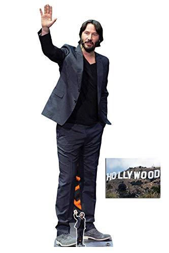 BundleZ-4-FanZ Keanu Reeves Celebrity Lifesize Cardboard Cutout Fan Pack, 194cm x 60cm Includes Mini Cutout and 8x10 Photo