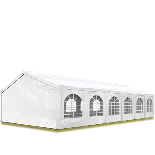 TOOLPORT Tente de réception 5x12 m, Toile de Haute qualité 240g/m² PE Blanc Construction en Acier galvanisé avec raccordement par vissage