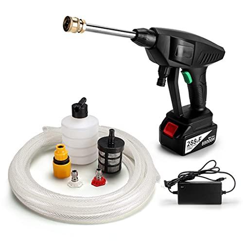 NYDCTHOM Limpiador de Alta presión inalámbrico para riego,Limpieza,batería 24V incluida,22 Bar de presión,Pistola de Agua portátil para Coche, hogar, jardín, Lavado