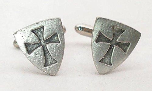 Boutons de Manchette Templiers (Knights Templar) avec Boîte à Cadeau