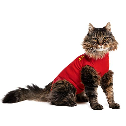 MPS Medical Pet Shirt Katze, Rot, XXXXS