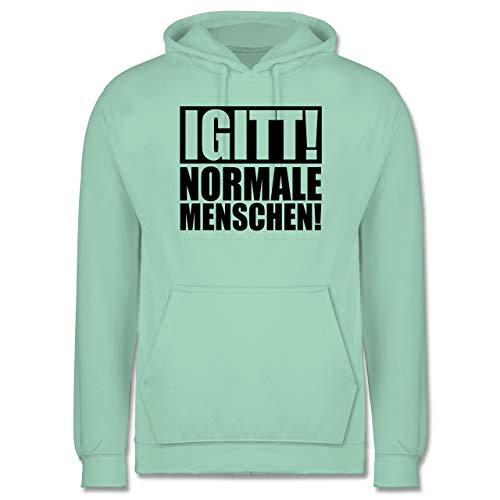 Festival - IGITT! Normale Menschen - schwarz - XL - Mint - Festival - JH001 - Herren Hoodie und Kapuzenpullover für Männer