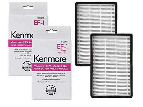 Ultracare Replacement 2 PK for Kenmore EF-1 (EF1) 20-53295 20-86889 86889