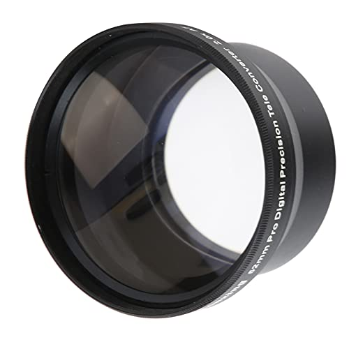 BALITY Obiettivo della Fotocamera, Obiettivo Zoom Filtro da 66 mm Prospettiva compressa 52 mm 2X Portatile per Obiettivo Completo da 52 mm per la Registrazione di Video e Lo Scatto di Foto