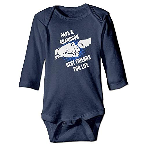 MUAIKEJI Papa and Grandson Best Friends for Life Baby Girls Cotton Long Sleeves Clothes