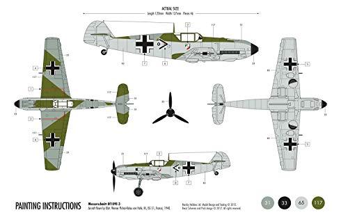 Airfix A55106 1:72 Messerschmitt Bf109e Military Aircraft Category 1 Gift Set