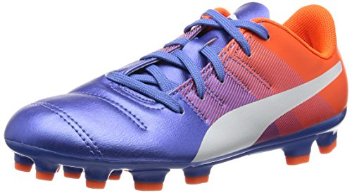 PUMA Herren EvoPower 4.3 AG Jr Fußballschuh, Blue Yonder White Shocking Orange, 4