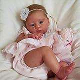 ASDFGHJKL Real Silicone Reborn Baby, Reborn Doll Little Harlow, Suave Vinilo para Bebés De 23 Pulgadas
